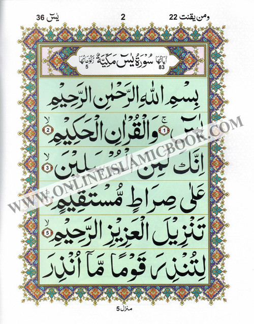 Sura Yaseen Large Size ( Extra Large Words) Persian ,Pakistani ,Indian Script