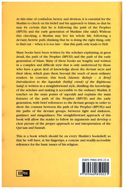 Islamic Beliefs A Brief Introduction to the Aqeedah of Ahl Assunnah wal Jamaah