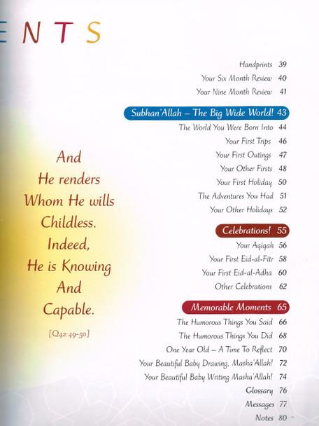 Muslim Baby Record Book by Siratt