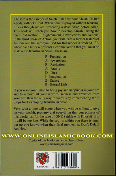 8 Steps For Developing Khushu' In Salah(Book Includes 2 Audio Cds)