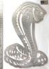Cobra Snake Wall Art - Silver