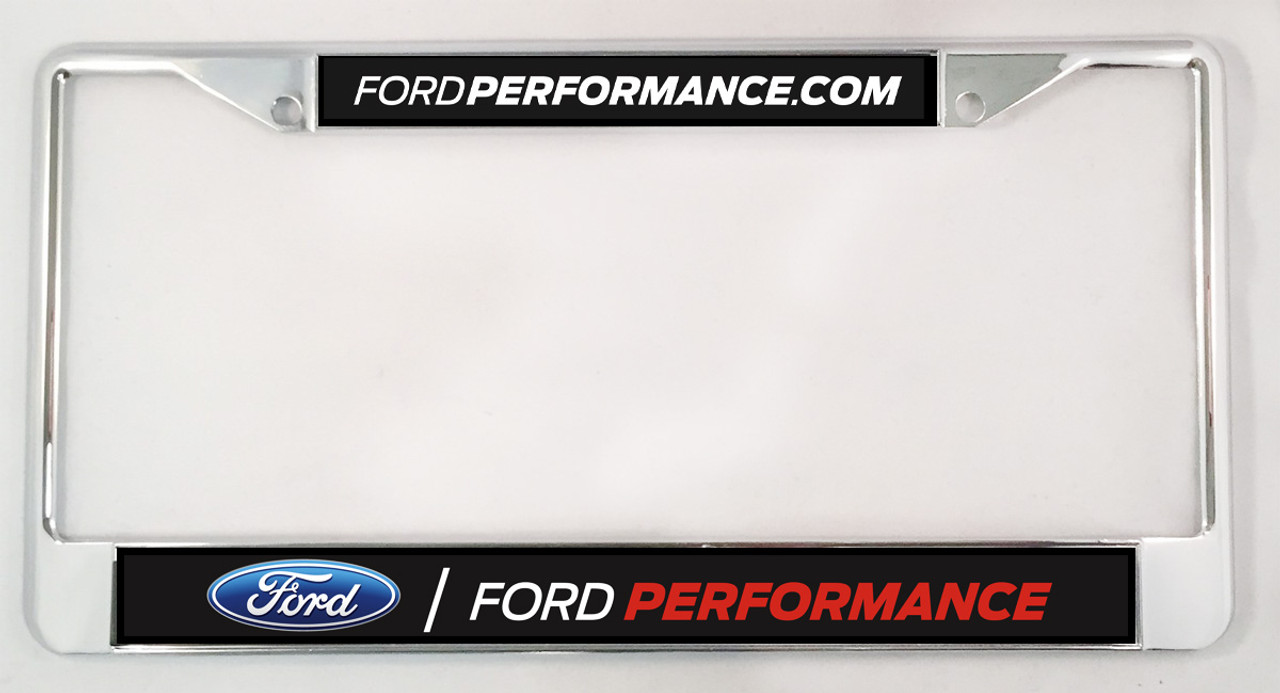 Chrome License Plate Frame - Ford Performance - SVT Store