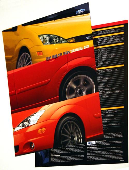 2004 SVT Focus Tech Card - Set of 2