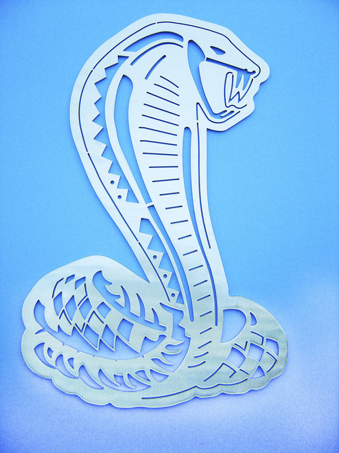 Cobra Snake Wall Art - Silver