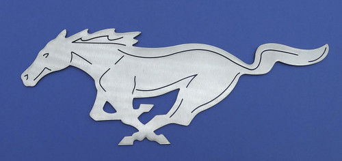 Mustang Pony Wall Art - Silver