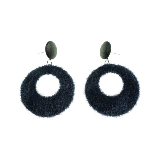 Agnes Navy Earrings