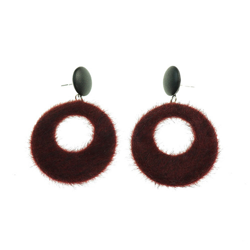 Agnes Wine Earrings