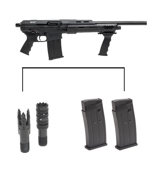 SKO Shorty with Two 5 Round Magazines and Stiletto/Tactical Chokes