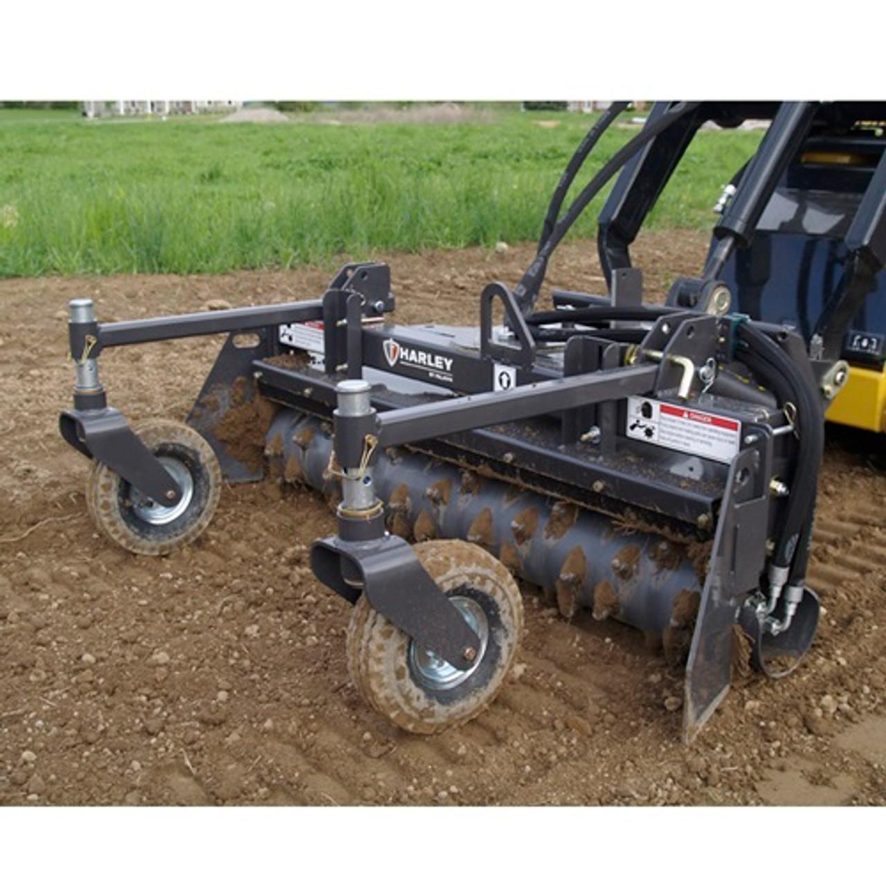 skid loader attachment harley rake landscape rake 6 holmes