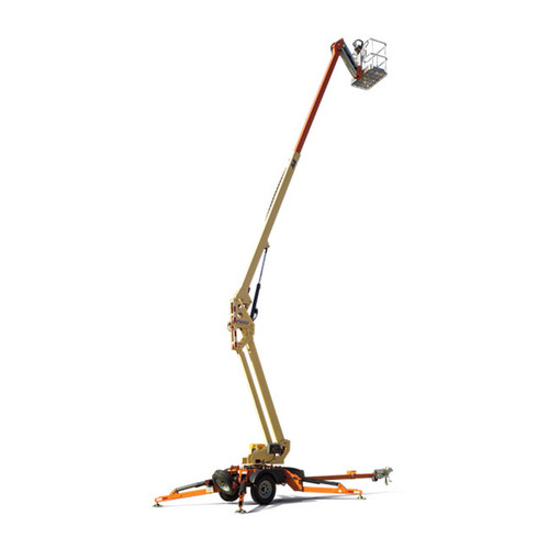 jlg t500 tow-pro u00ae boom lift - 50 u0026 39  towable  electric