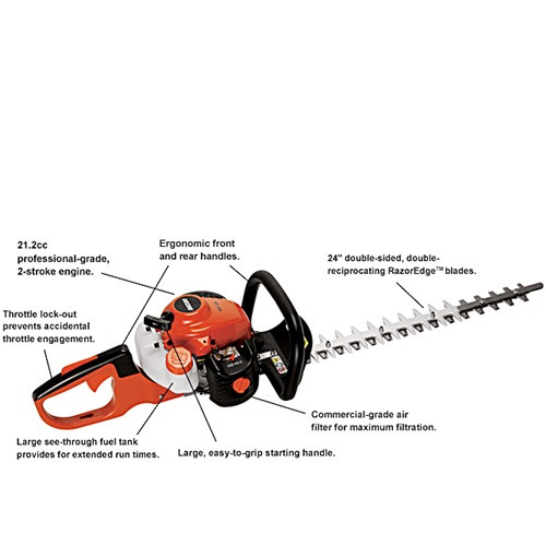 """Hedge Trimmer, 24"""", Gas"""