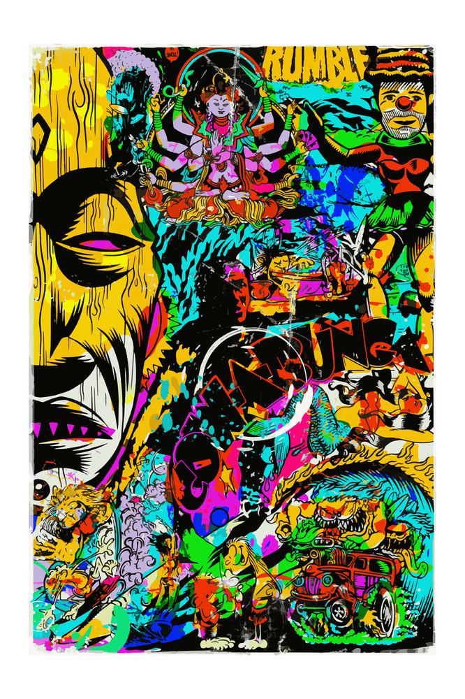 TIKI GOD x POINT PANIC by Jim Evans aka TAZ
