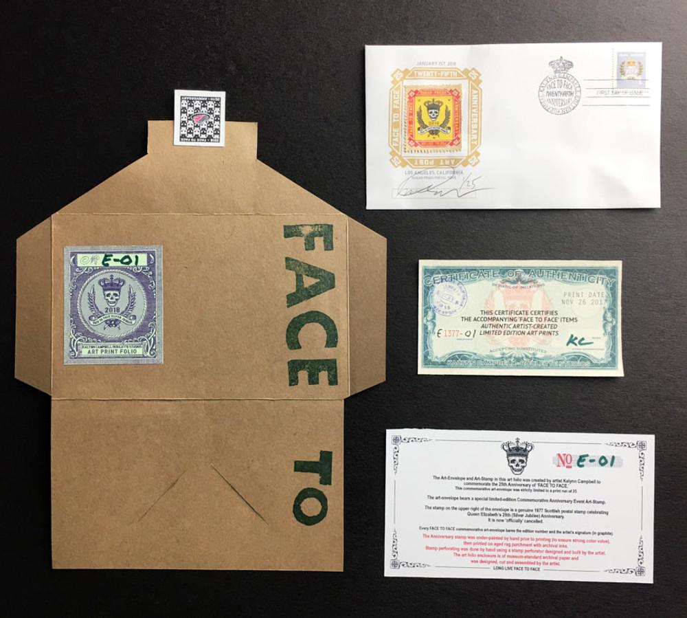 Commemorative Stamp Set - Anniversary Envelope - by Kalynn Campbell