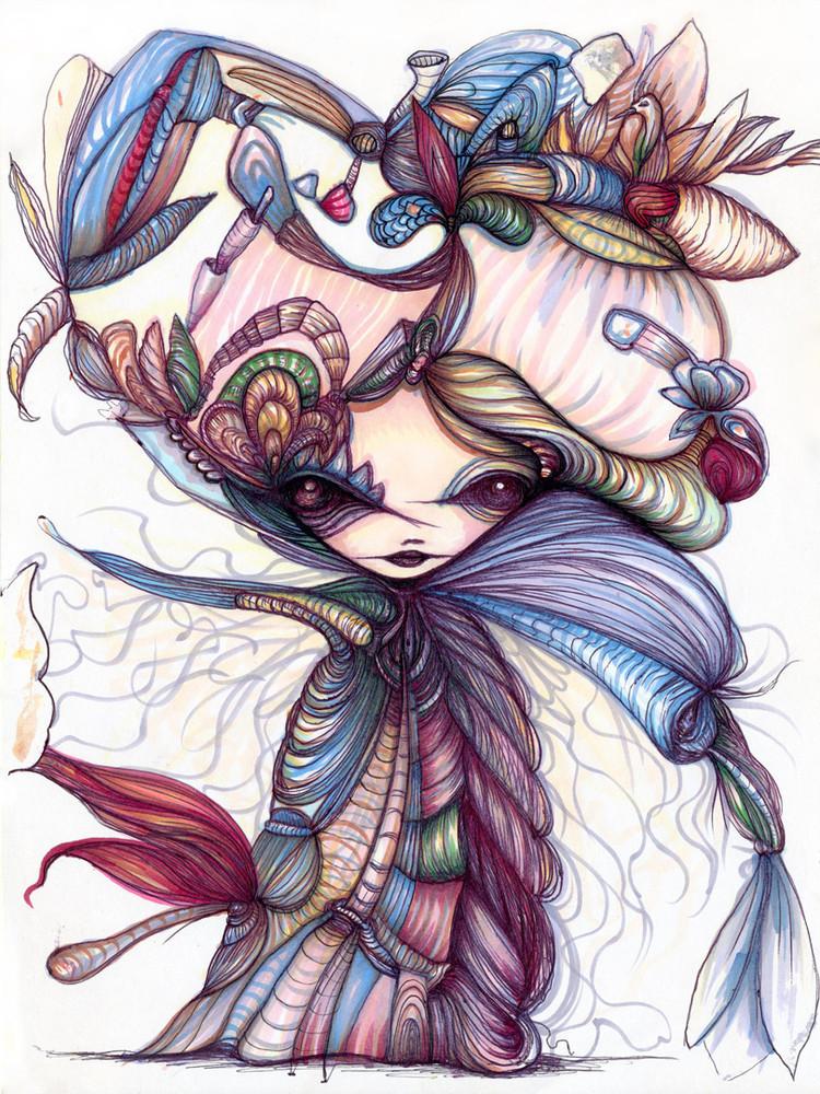 Winter Flower Sorceress by Gloria Muriel