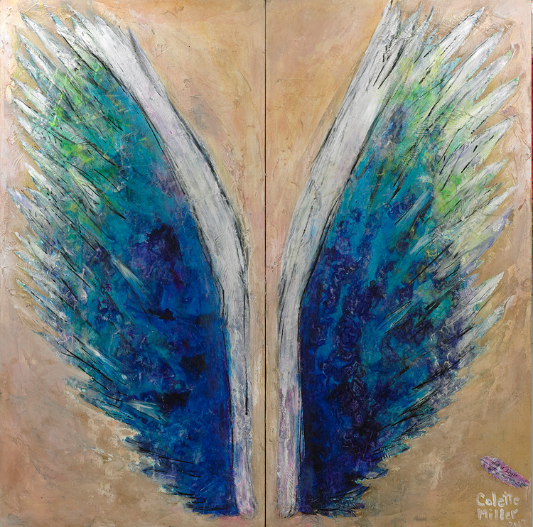Wings on Sand by Colette Miller