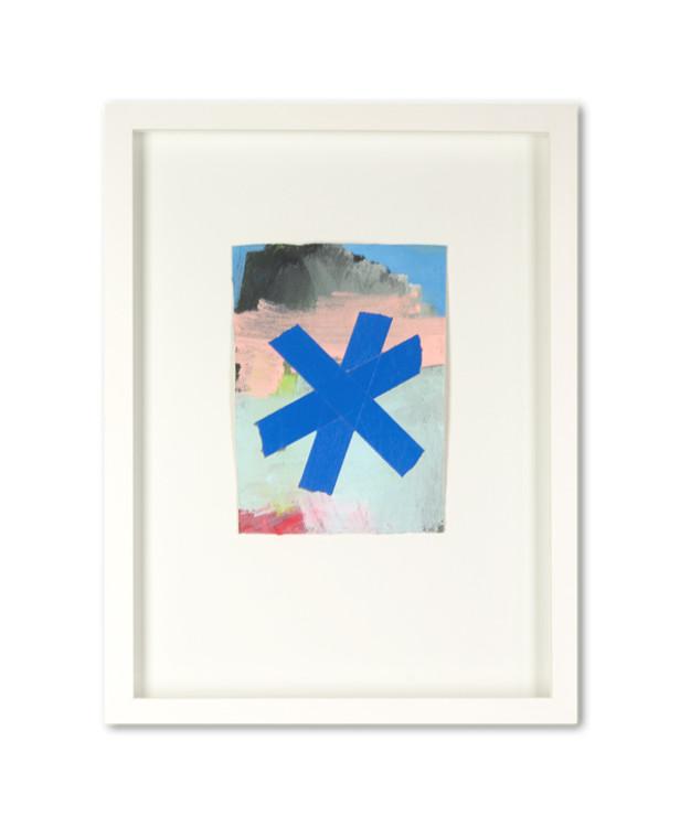 Asterisk (blue) by Matthew Heller