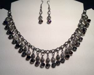 Elegant crystal drops necklace set