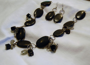 Stunning Black Semi Precious Necklace Set