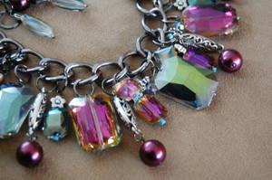 Carnival Crystal Cluster Necklace Set