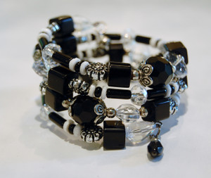 Black and White Wrap Bracelet