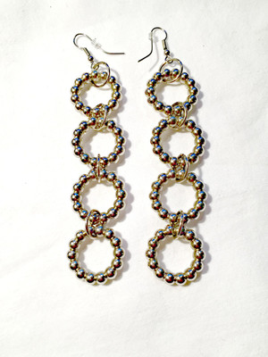 Silver rings earrings