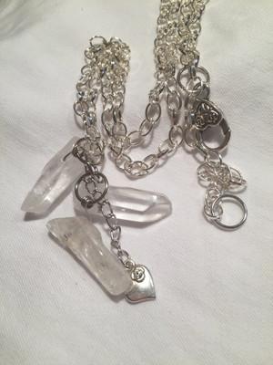 Clear Crystal Quartz Necklace
