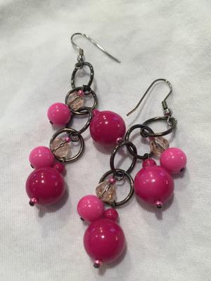 Pink tones earrings