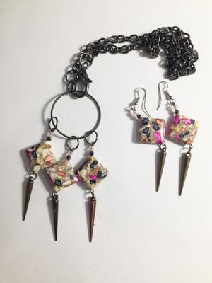 Stunning Mosaic Tiles Necklace Set
