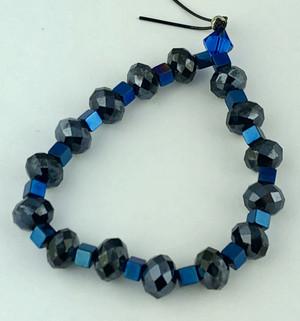 Shades of Blue Crystals Bracelet