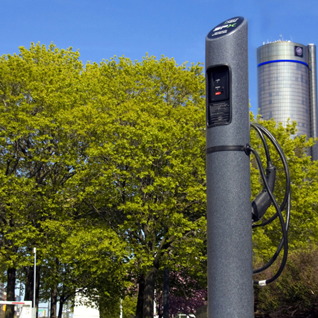 Electric Vehicle Charging Station plastic bollard post
