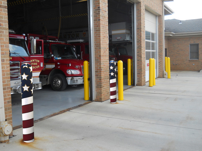 Summer Discount: Add Star Spangled Stripes to your Bollard Pipes
