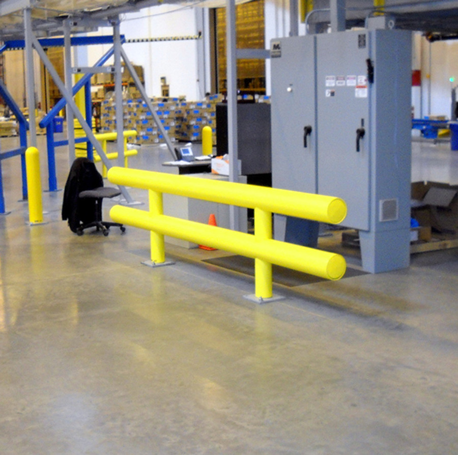 Two Line Heavy Duty Industrial Guardrail Equipment Protection