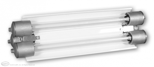 380 LED 2-Lamp Explosion Proof Light Five hub entries means versatile installation options Available in different lengths and lamp configurations