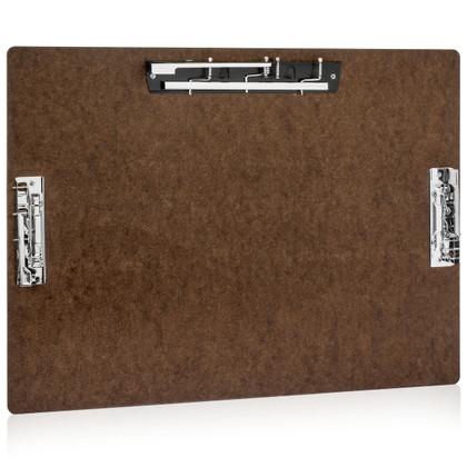 """17x11 Hardboard Clipboard with 8"""" Lever Operated Clip, & Two (2) 4"""" Lever Operated Clips"""