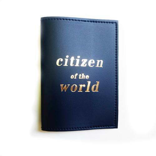 Passport Sleeve: Citizen of the World Navy