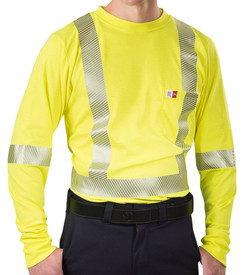 Big Bill SRT5PY6 Class 3 CAT 2 Long Sleeve Hi Viz T-Shirt