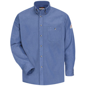 Bulwark SEG2 CAT 2 Fire Resistant Cotton Denim Dress Shirt