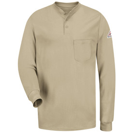 Bulwark SEL2 FR Tagless Long Sleeve CAT 2 Henley Shirt
