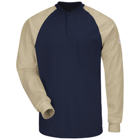 Bulwark SEL4 Long Sleeve NFPA CAT 2 FR Henley Shirt