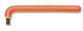 Cementex Insulated Long Arm L Metric Allen Wrench - Red Insulated Hex Wrench in the shape of an L.