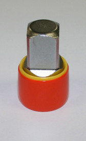 Cementex Insulated Assorted Voltage Rated Socket Adapters - Red Insulated round socket adapter.