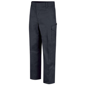 Horace Small Men's 6 Pocket Cargo Officer Pants - Dark Navy Front View of Cargo Trousers with wide belt loops, 2 Quarter-Top Front Pockets, a cargo pocket on the side of each leg and permanent creases on  each leg.