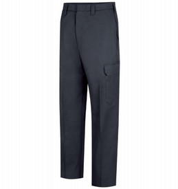 Horace Small Men's EMT 6 Pocket Officer Trousers - Front View of Dark Navy EMT Trouser with 2 Quarter-Top Front Pockets, a cargo pocket on each leg and a crease on each leg.