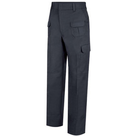 Horace Small Women's EMT Navy 9 Pocket Trouser - Front  View of Dark Navy EMT Cargo Pants with wide waist, wide belt loops, 2 Quarter-Top Front Pockets, 2 Two Upper Glove Pockets with Inverted Pleats, Cargo pockets with flaps on each leg and a crease on each leg.