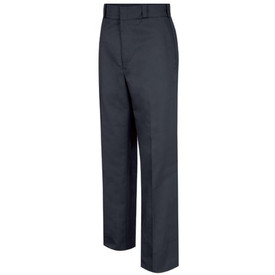 Horace Small 4 Pocket Women's Trouser - Dark Navy Front View of Trousers with belt loops, wide waist, 2 Quarter-Top Front Pockets and permanent creases.
