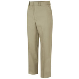 Horace Small Women's Sentry Weave Trousers -Front View Silver Tan Horace Small Trousers with belt loops, 2 Quarter-Top Front Pockets and creases on both legs.