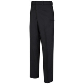 Horace Small Women's All Season Cargo Trouser - navy men's long work pants with hidden cargo pocket, 2 Quarter top front pockets, belt loops and concealed cargo pocket on both side of legs. Front view.