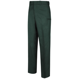 Horace Small Men's Hidden Cargo Pocket Uniform Trouser - Horace Small spruce green long work pants with 2 hidden cargo pockets on the side of the legs, 2 Quarter top front pockets, concealed zipper front and belt loops. Front view.
