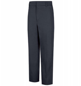 Horace Small Women's Cotton Station Wear Trouser - Dark Navy Front View of cotton station wear trousers with belt loops, 2 Quarter Top Front Pockets and creases on front of pants.