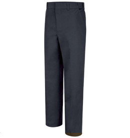 Horace Small 4 Pocket Men's Officer Pants - Dark Navy long work pants with  2 Quarter top front pockets, belt loops, concealed zipper and creases on the front of both legs.. Front view.